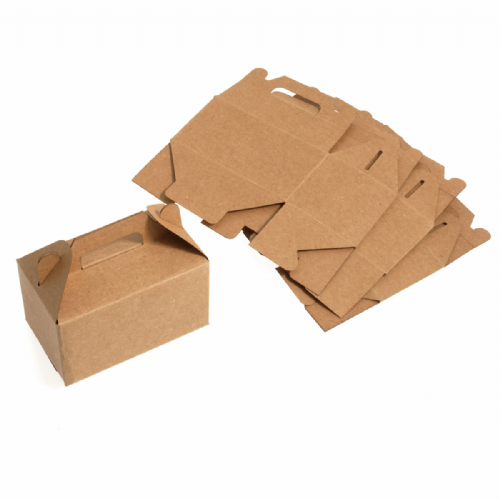 Favour Boxes Craft Pack of 4 Brown